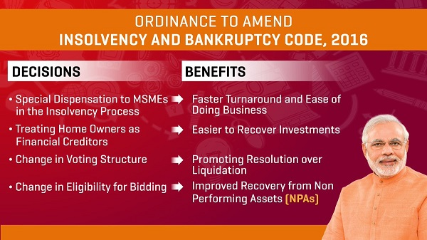 Insolvency and Bankruptcy Code (Amendment) Ordinance, 2018: Home buyers will be acknowledged as tenable financial creditors.